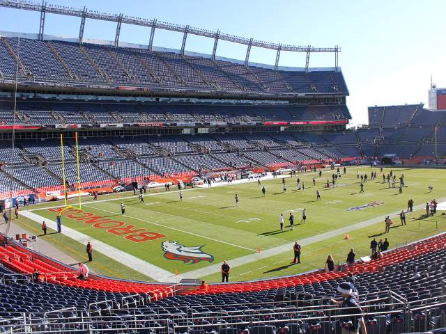 Denver Broncos Field Level Corner End Zone