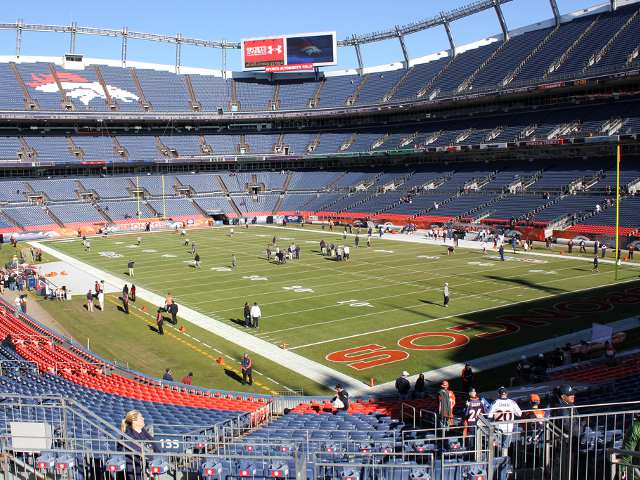 Denver Broncos Field Plaza Level End Zone