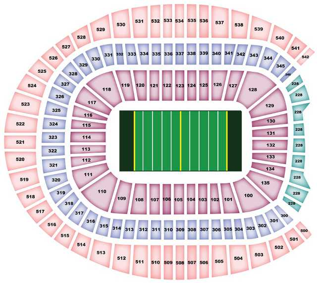 Denver Broncos Seating Chart for Sports Authority Field at Mile High
