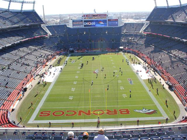 Denver Broncos Upper Level North End Zone
