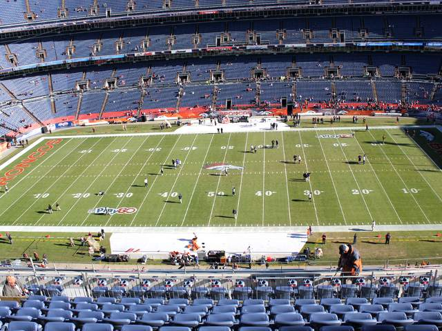 Denver Broncos Upper Level Sidelines